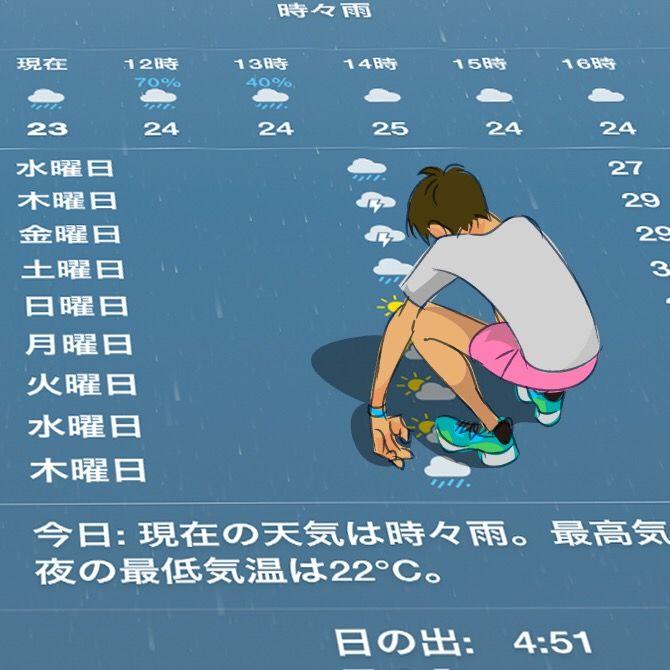 梅雨イラスト2