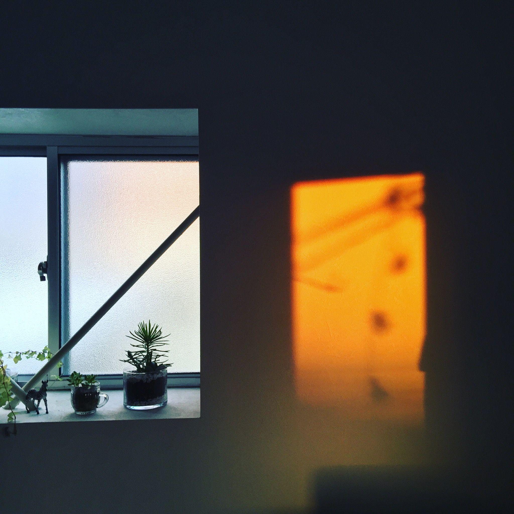 夕陽の影絵
