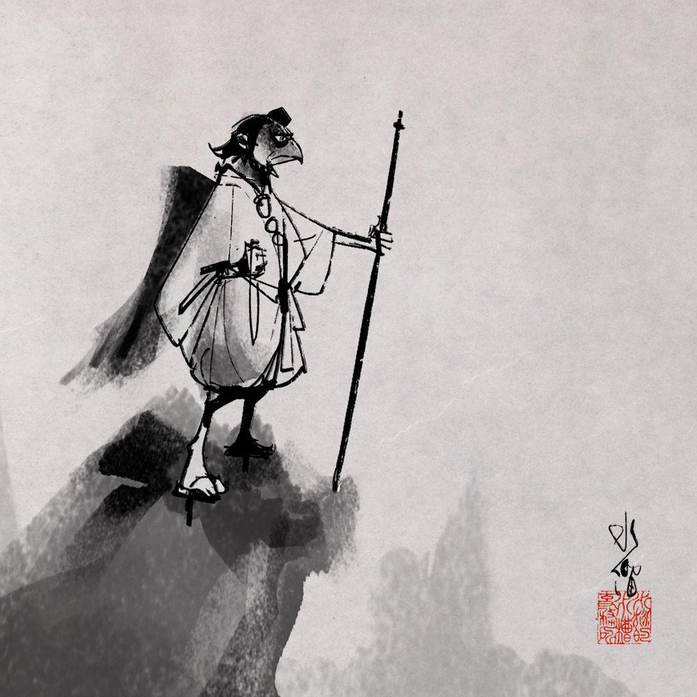 烏天狗イラスト